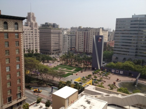 Pershing Square from Above Source: http://chrisrising.com/2012/09/04/new-urbanism-and-pacmutual/#