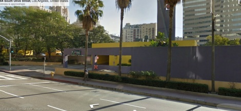 "View ""into"" Pershing Square from Olive StreetSource: Google Street View"