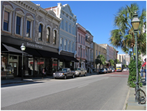 King Street, looking northPhoto From: http://upload.wikimedia.org/wikipedia/commons/9/9a/Charleston_king_street1.jpg