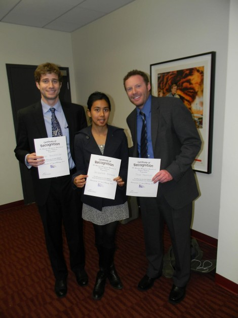 Our winners! Nick Busalacchi, Jacqueline Berman, and Jason ManvillerPhoto From: GPAC