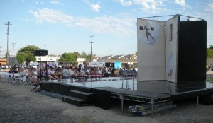 Vacant lot transformed into community arts center.  Photo: Katherine Bray