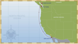 Vancouver to San Diego