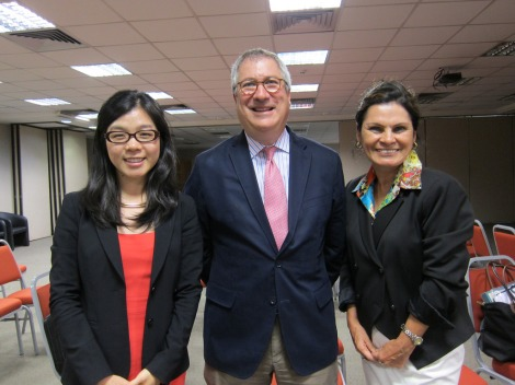 Our fearless leaders (from left: Ginger Li, Richard Green, and Dianna Motta)