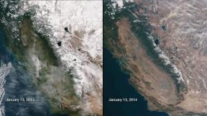 View of the drought from space, 2013-2014