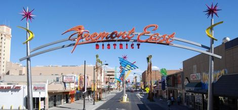 The Fremont East District in Las Vegas, where Zappos is headquartered.